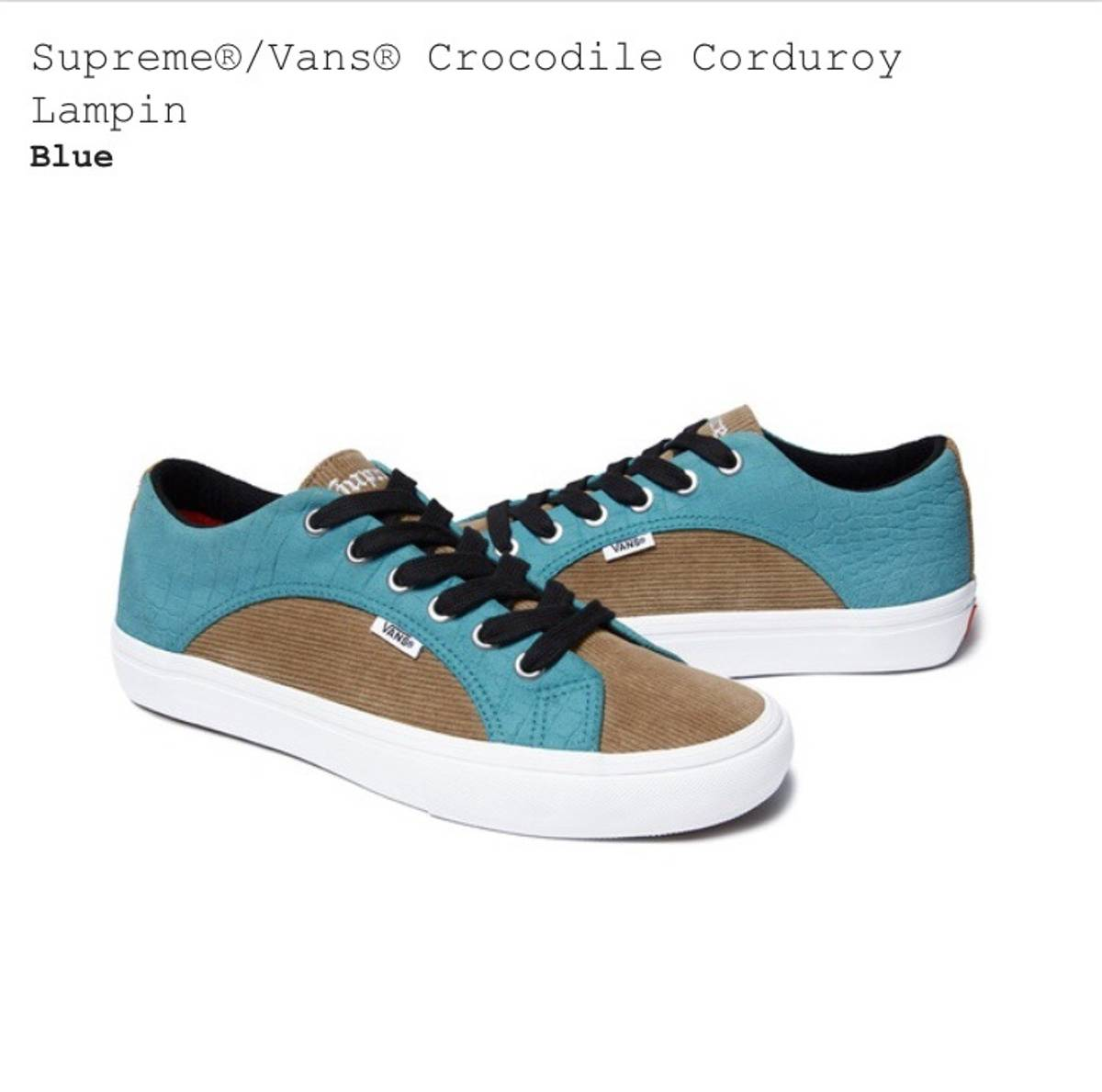 36d860d9b4 Supreme Supreme® Vans® Crocodile Corduroy Lampin (Blue) SS18 IN HAND Size  11 - Low-Top Sneakers for Sale - Grailed