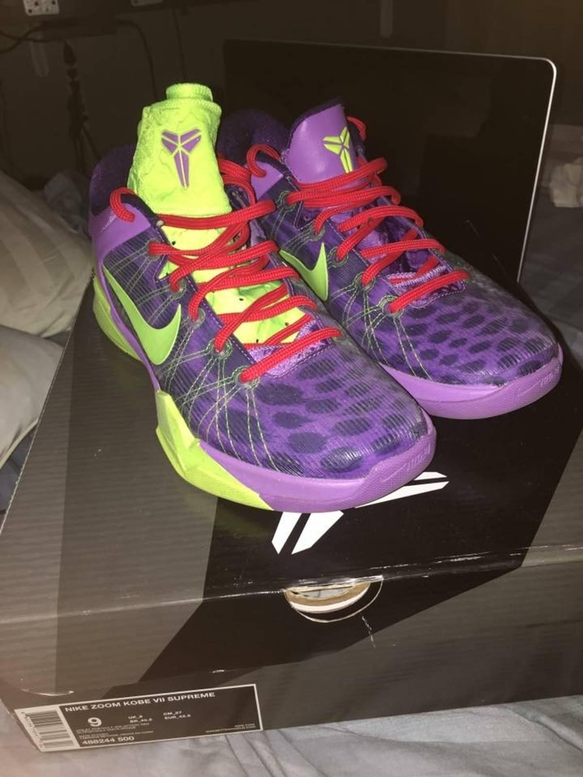 56f271552987 Nike Nike Kobe 7 Christmas Xmas Cheetah Grinch Size 9 - for Sale ...