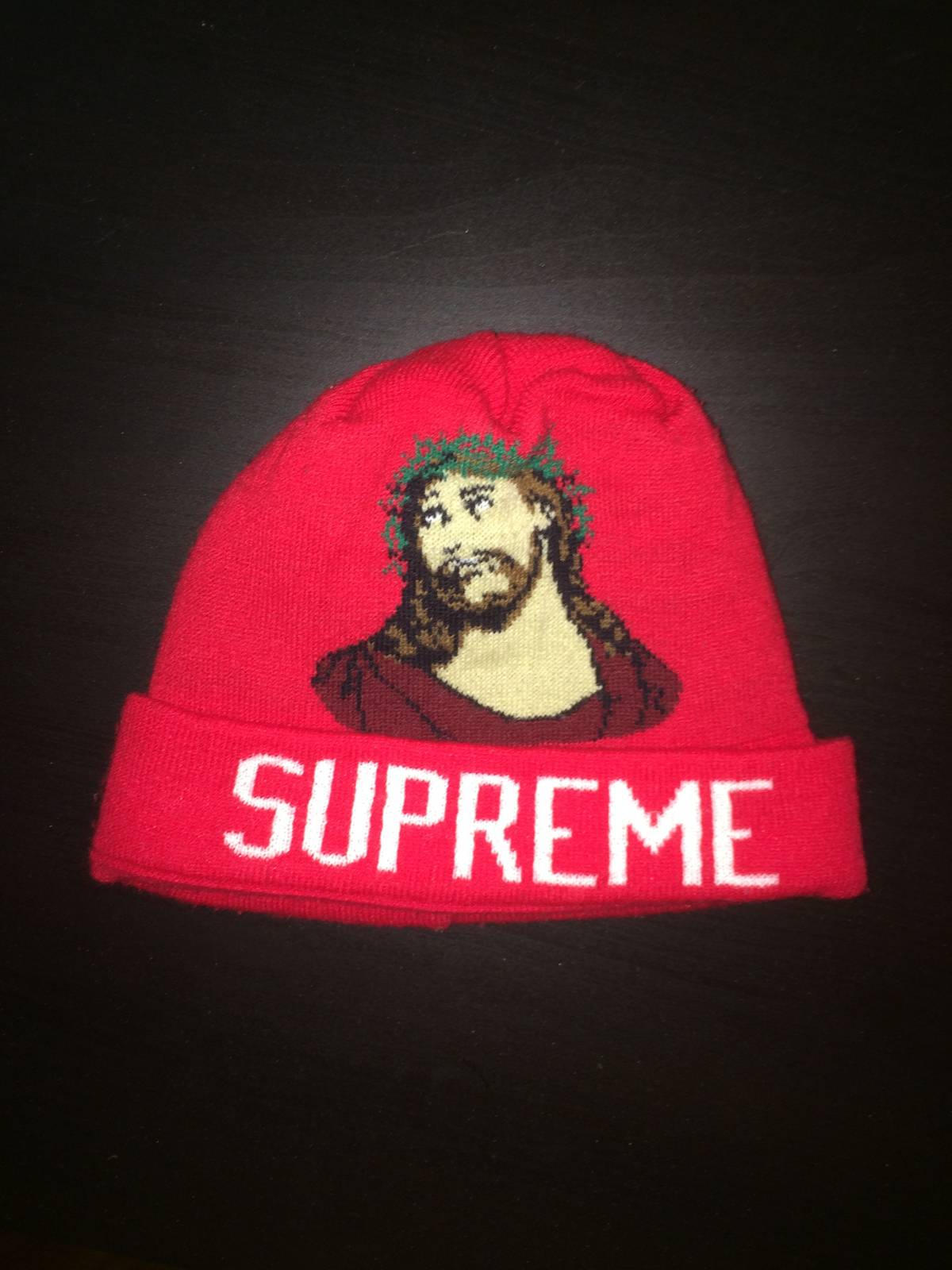 72c1ddefc77 Supreme Supreme INRI Jesus Beanie Red ONE SIZE Size one size - Hats for  Sale - Grailed
