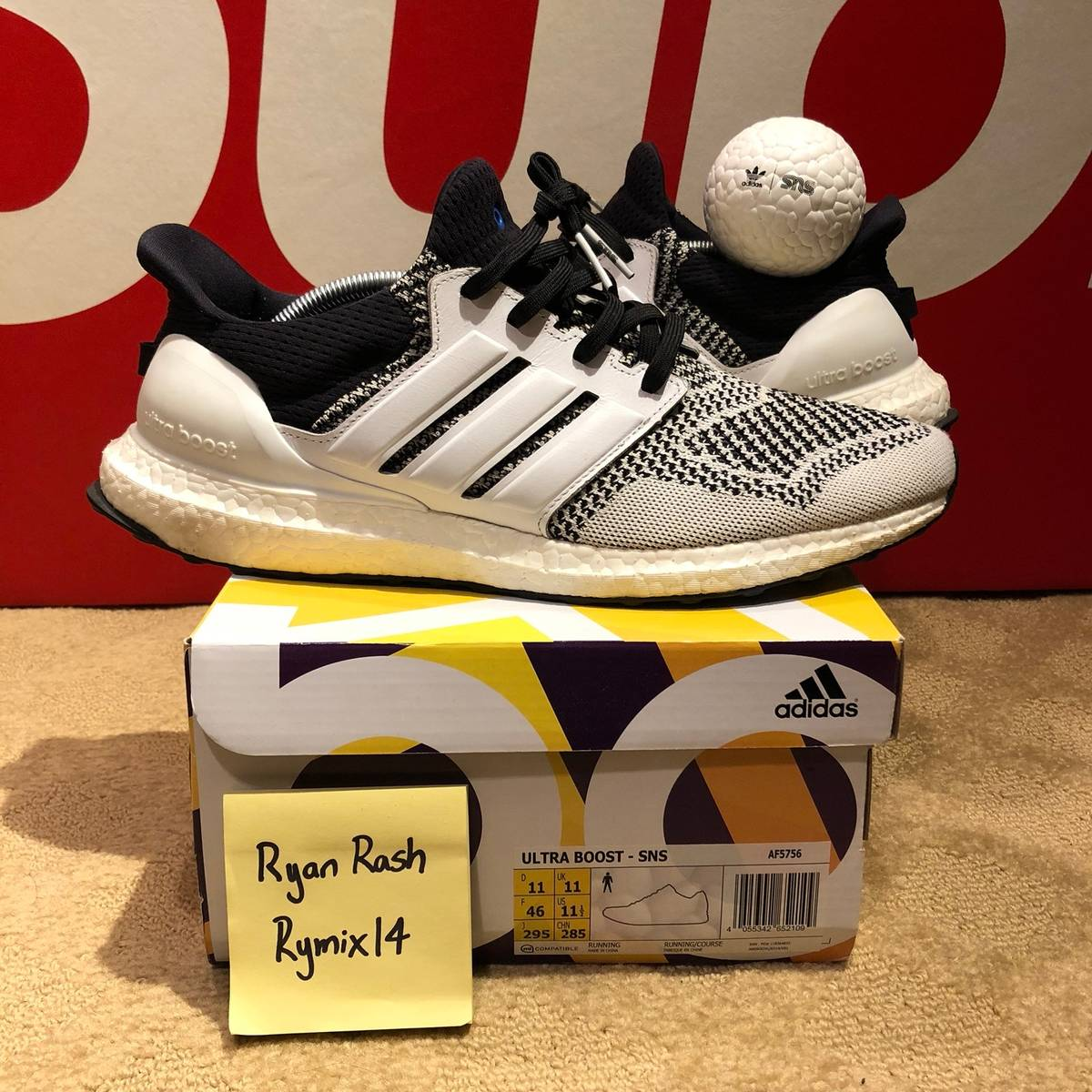 "online store 770b4 b944d Adidas SNS x Adidas Ultra Boost 1.0 ""Tee Time"" (AF5756) Size 11.5 - Low-Top  Sneakers for Sale - Grailed"