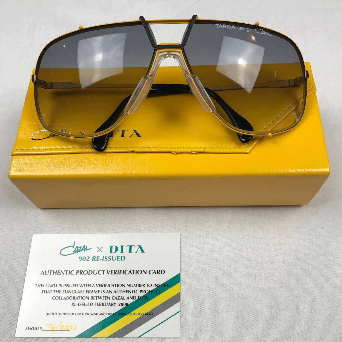 b8511a6b0bf Cazal Dita X Cazal 902 Yellow Limited Edition Reissue Size one size -  Sunglasses for Sale - Grailed