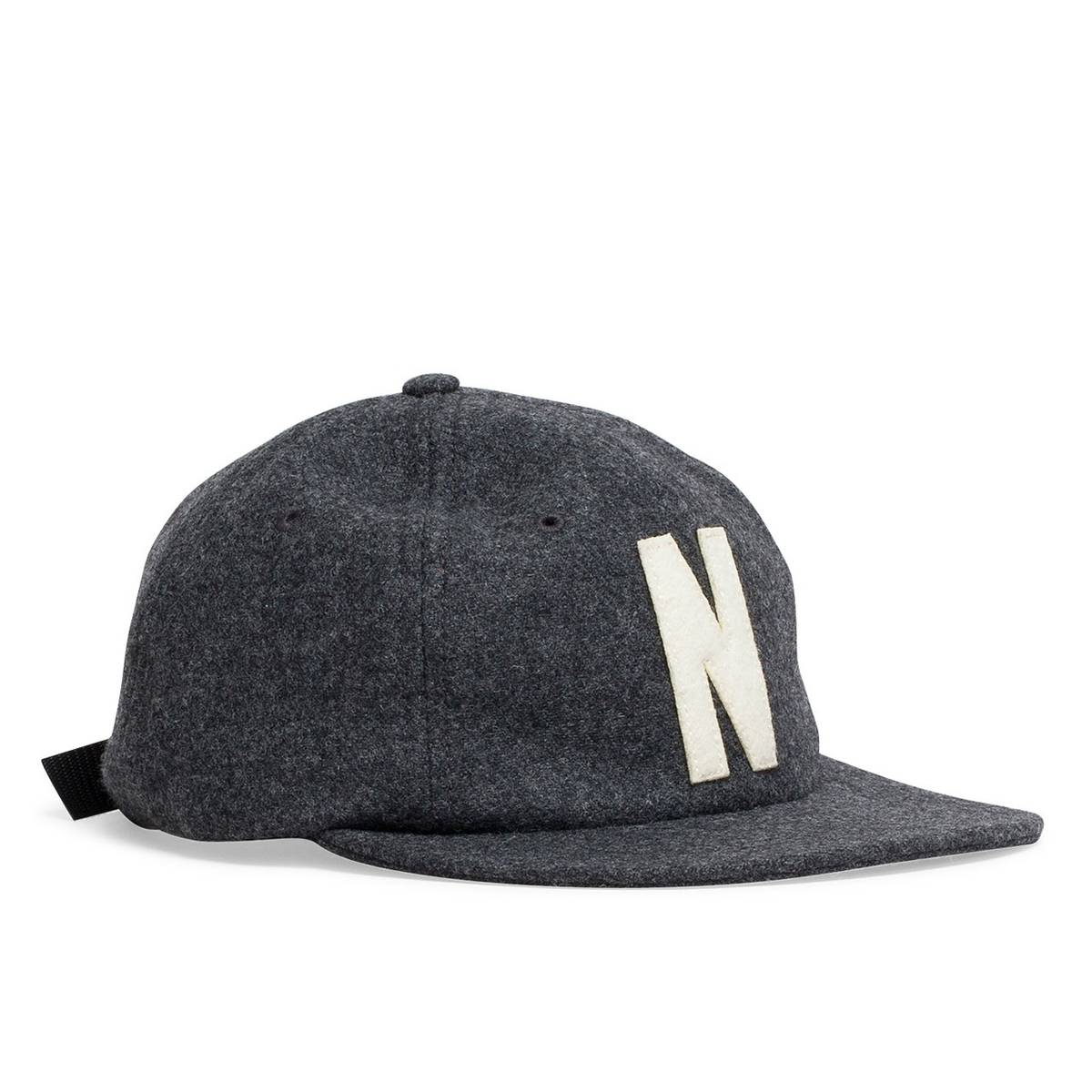 85ed5aec552 Norse Projects 6 Panel N Wool Flat Cap Charcoal Melange