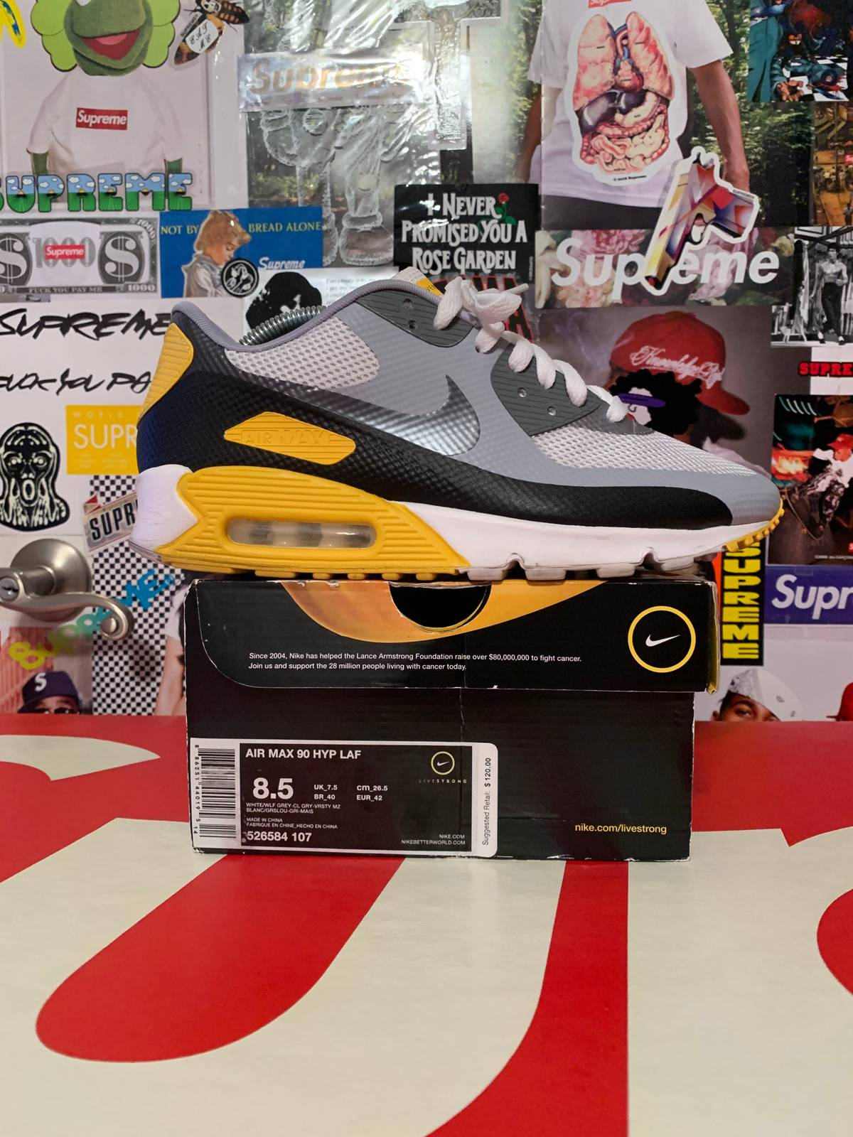 Nike Nike Air Max 90 Hyperfuse Livestrong Size 8.5 Size 8.5 $135