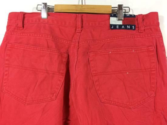 Vintage Tommy Jeans Swag 90s Hip Hop Style Short Pant Red Streetwear Rare sCysST4GD5