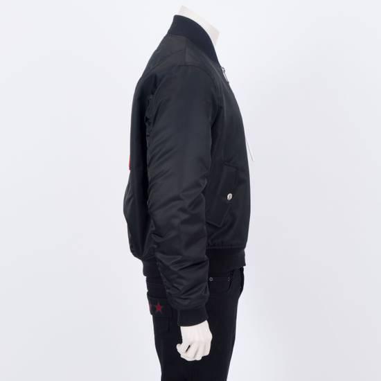 Givenchy 2550$ New Black Padded Nylon Illuminati Patch Bomber Jacket Size US L / EU 52-54 / 3 - 6
