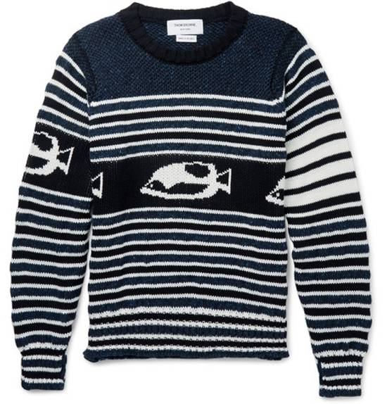 Thom Browne intarsia cotton and wool mohair blend sweater Size US XS / EU 42 / 0