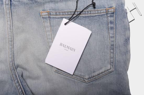 Balmain 1565$ Skinny Light Blue Distressed Biker Jeans Size US 33 - 11