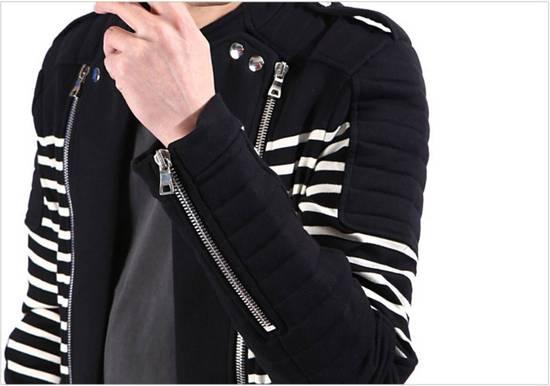 Balmain Stripped cotton biker jacket Size US XXL / EU 58 / 5 - 5