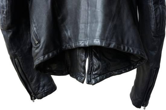 Julius JULIUS _7 ma high neck black lamb biker jacket slim fit Japan Size US S / EU 44-46 / 1 - 16