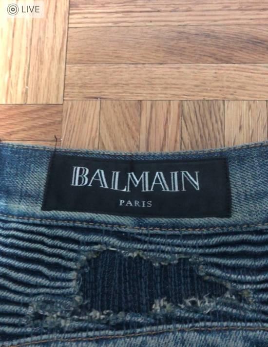 Balmain FW13 Oil Destroyed Indigo Jeans Size 30 (ALTERED) Size US 30 / EU 46 - 4