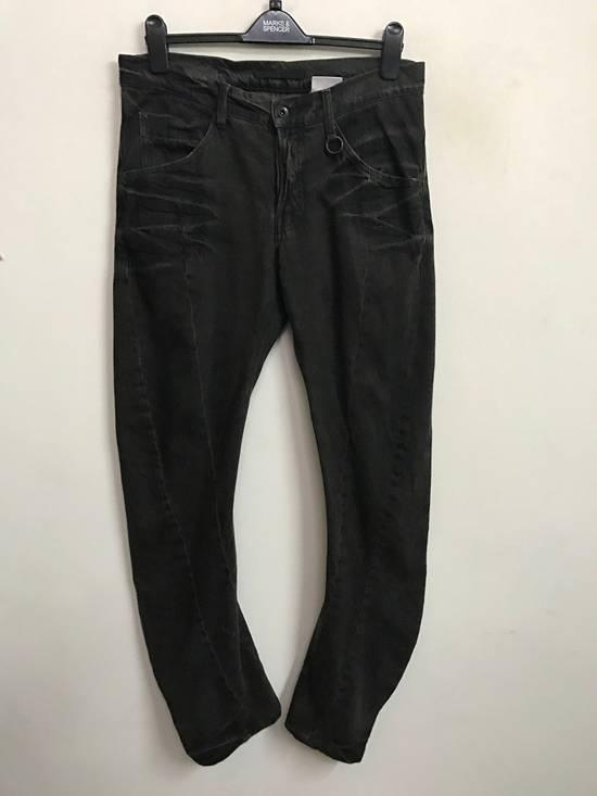 Julius Japanese Designer JULIUS7 Made in Japan Distressed Curved in Legs Denim Pant Size US 33 - 1