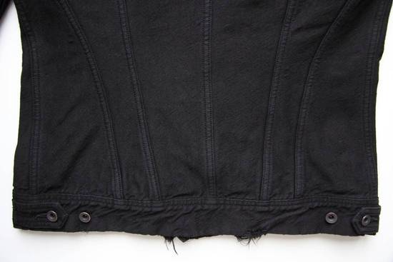 Julius JULIUS_7 COTTON NYLON DENIM DISTRESSED JACKET SIZE 2 Size US M / EU 48-50 / 2 - 5