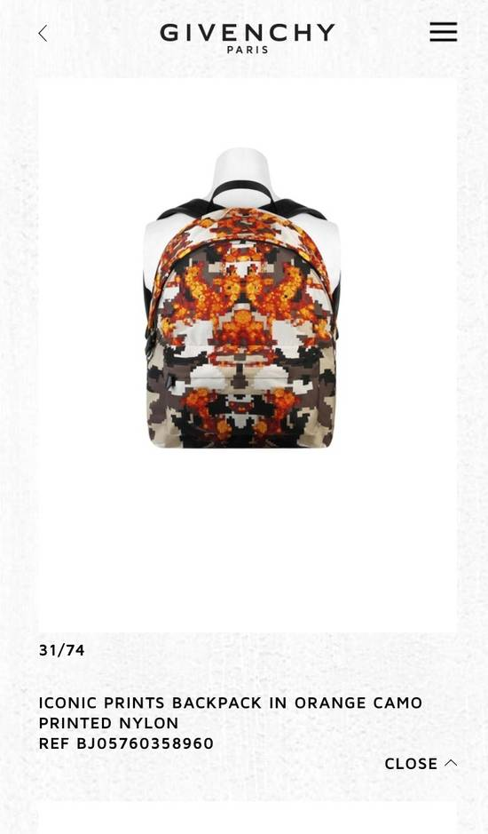 Givenchy ICONIC PRINT IN ORANGE BACKPACK Size ONE SIZE - 6
