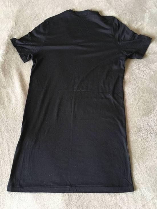 Julius Japan made black printed silk and cotton jersey longline tshirt Size US M / EU 48-50 / 2 - 9