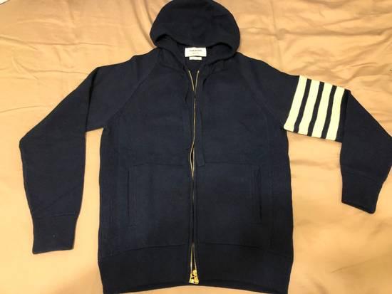 Thom Browne THOM BROWNE Striped Cashmere Zip-Up Hoodie Size US M / EU 48-50 / 2