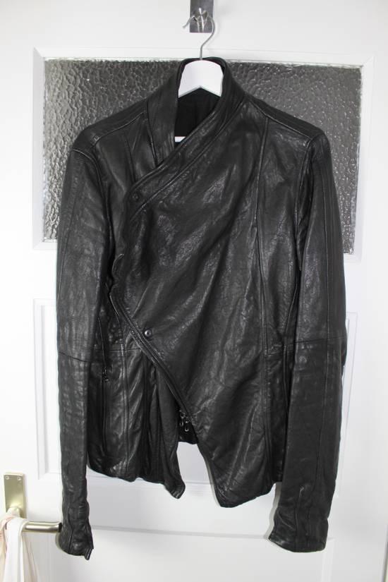 Julius 11aw halo asymmetrical leather jacket Size US M / EU 48-50 / 2