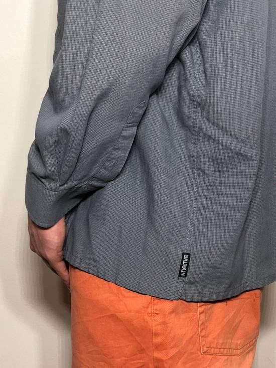 Balmain Grey Pattern Button Down Size US L / EU 52-54 / 3 - 5