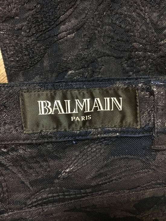Balmain Balmain Midnight Blue Waxed Embroidered Jeans Size US 27 - 22