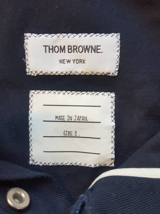 Thom Browne Navy Back-strap Trousers RB2 Size US 30 / EU 46 - 8