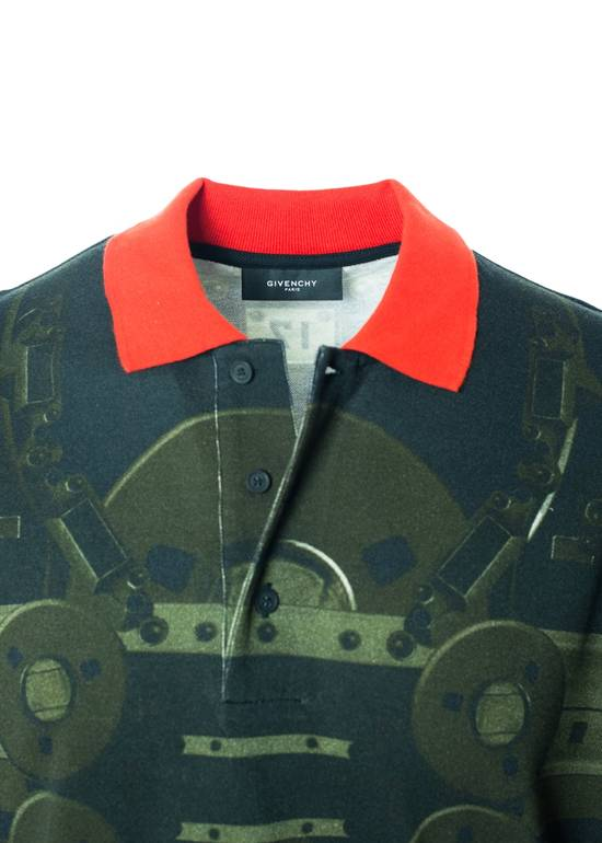 Givenchy Givenchy Men's Olive & Red Printed Graphic Polo Shirt Size US S / EU 44-46 / 1 - 2