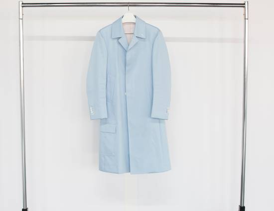 Thom Browne Light Blue Mackintosh Overcoat Size US XS / EU 42 / 0