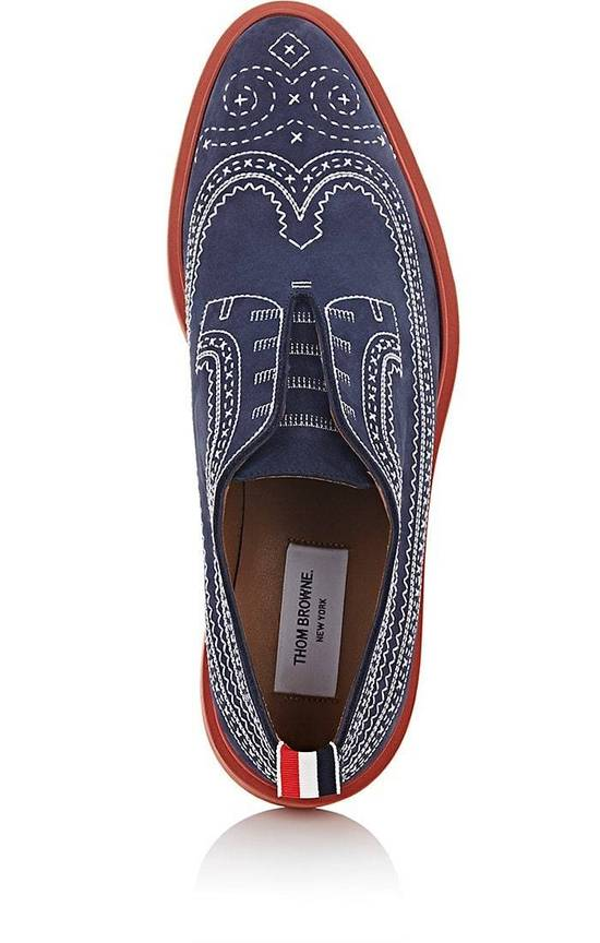 Thom Browne Stitched Nubuck Laceless Balmorals Size US 7 / EU 40 - 3