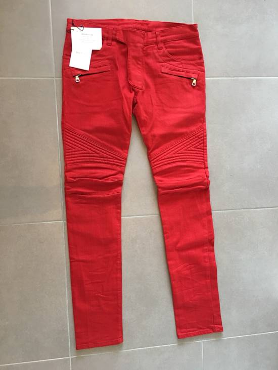 Balmain Jeans balmain biker Red Size US 30 / EU 46 - 5