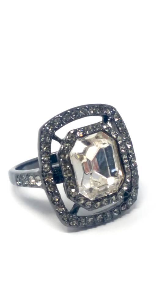 Givenchy Gunmetal ring size 8 Size ONE SIZE