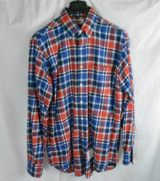 Thom Browne Red White Blue Plaid Flannel Thick Cotton Casual Shirt 3 4 5 X-Large Size US XL / EU 56 / 4