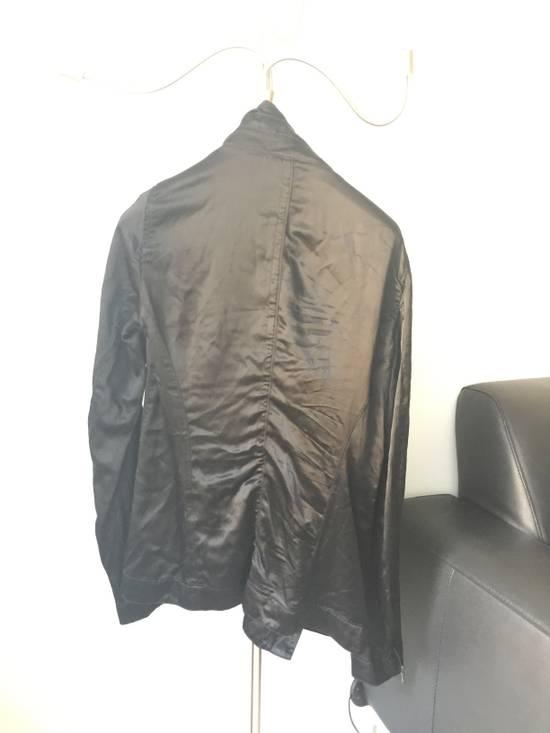 Julius 2010 Black Cowl Neck Zipper jacket size 1 Cupro Cotton Size US S / EU 44-46 / 1 - 2