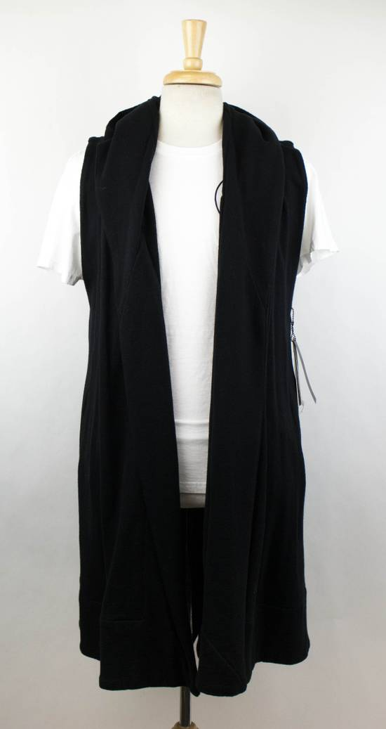 Julius Men's Black Cotton 'Sleeveless Long Coat' Vest Size 0/2XS Size US XS / EU 42 / 0