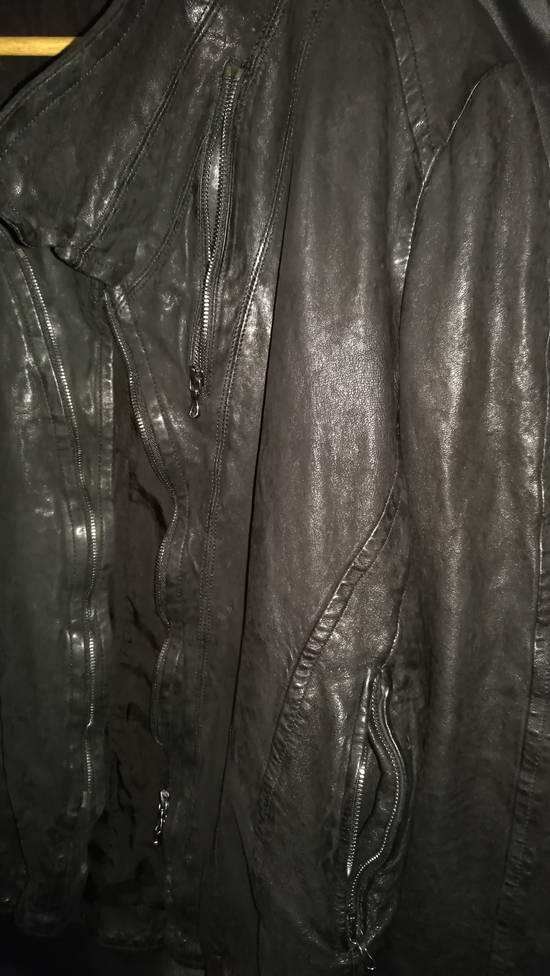Julius BNWT Size 4 Moldable Collar Leather High Neck Jacket Size US XL / EU 56 / 4 - 7