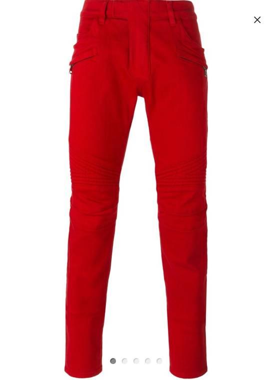 Balmain Jeans balmain biker Red Size US 30 / EU 46 - 1