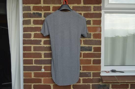 Balmain Grey Ribbed Knit T-shirt Size US M / EU 48-50 / 2 - 6
