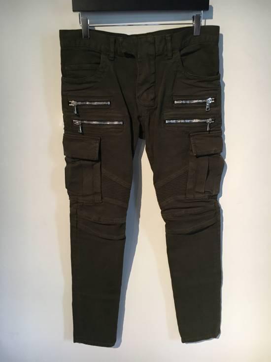 Balmain Balmain Cargo Green Biker Jeans Size US 31 - 1