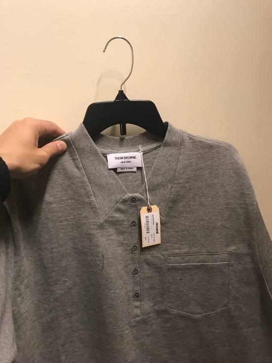 Thom Browne XS & XXL Mock Polo in Grey Size US XXL / EU 58 / 5 - 4