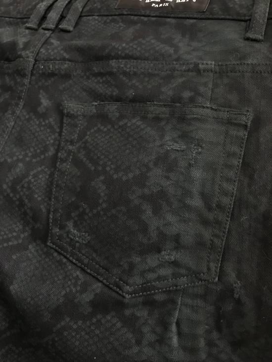 Balmain Size 32 - Distressed Snake Print Rockstar Jeans - FW17 - RARE Size US 32 / EU 48 - 5