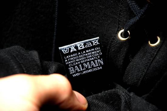 Balmain Black Lace-up Long Sleeved T-Shirt Size US XL / EU 56 / 4 - 8
