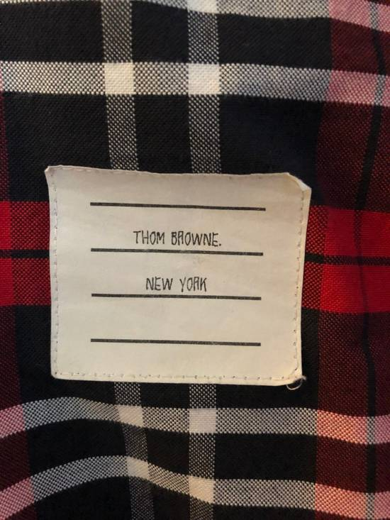 Thom Browne Red/Navy/White Plaid Shirt Size US M / EU 48-50 / 2 - 5