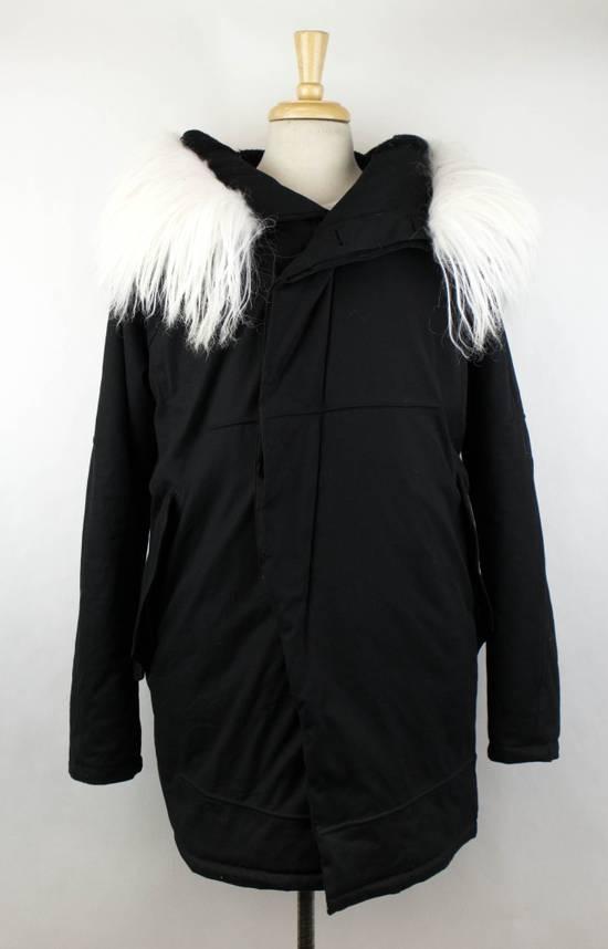 Julius Black Cotton Blend Zip-Up Hooded Parka Coat Size 3/M Size US M / EU 48-50 / 2