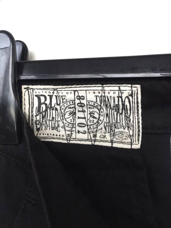 Julius Japanese Artist Designer Blue Tornado Cotton Twill Twist Leg Skinny Trousers Pants Inspired by MA_Julius Size US 30 / EU 46 - 6