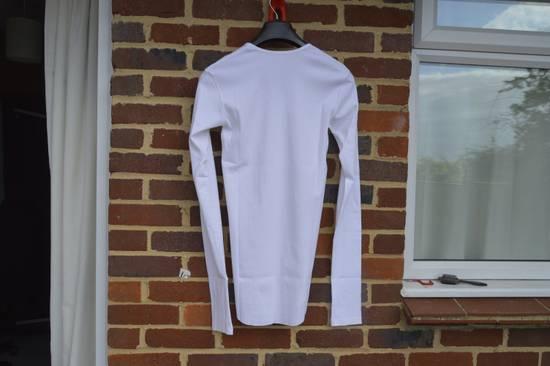 Balmain White Ribbed Long Sleeve T-shirt Size US M / EU 48-50 / 2 - 6