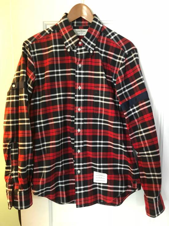 Thom Browne Red/Navy/White Plaid Shirt Size US M / EU 48-50 / 2 - 1