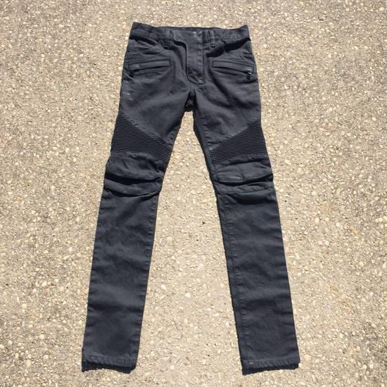 Balmain Gray Biker Jeans Size US 27 - 3