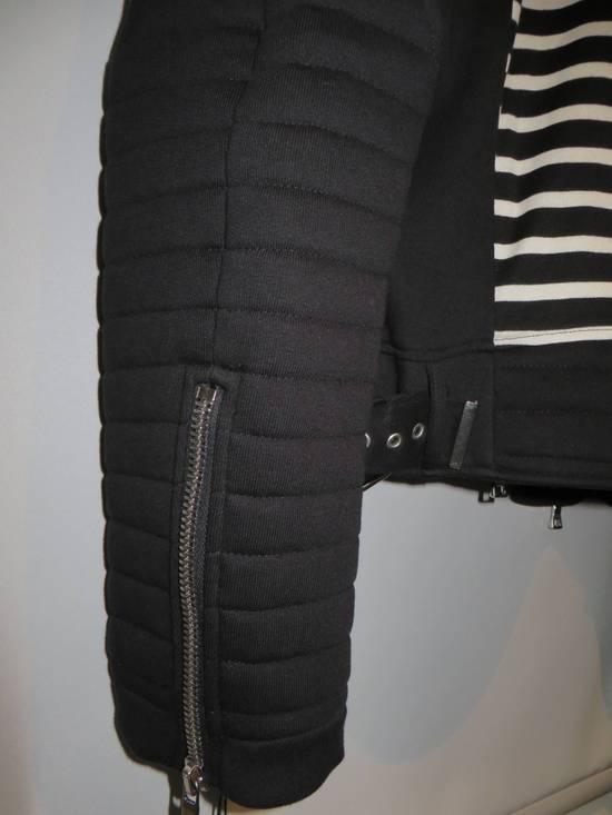 Balmain Stripped cotton biker jacket Size US XXL / EU 58 / 5 - 9