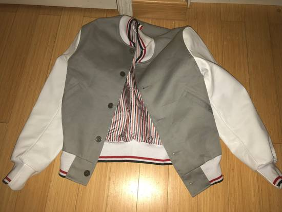 Thom Browne Rare Two Tone Varsity Jacket Size US S / EU 44-46 / 1