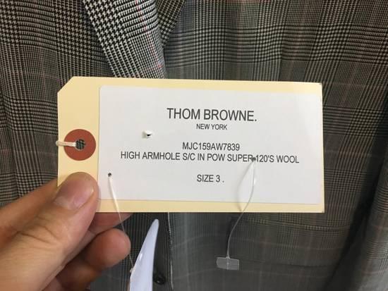 Thom Browne Men's Grey Black & White Prince Of Wales Wool Blazer Size US M / EU 48-50 / 2 - 2