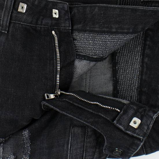 Balmain Blue Denim Distressed Slim Fit Biker Jeans Pants Size US 30 / EU 46 - 1