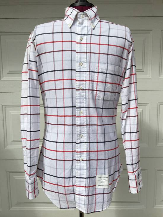Thom Browne Red/Blue Windowpane Oxford Shirt L/S Size US S / EU 44-46 / 1