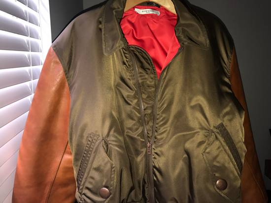 Givenchy Givenchy Auburn/Olive Leather Bomber W Red Satin Inside Size US M / EU 48-50 / 2 - 1